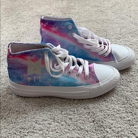 Bts Purple Galaxy Luminous Sneakers